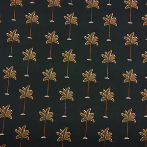 Viscose - Palmbomen op zwart