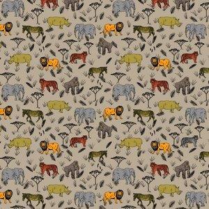 Katoen - Safari op beige