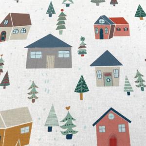 Canvas - Huisjes in sneeuw