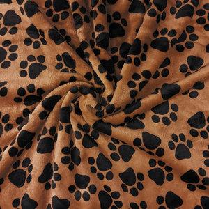 Wellness fleece - Zwarte pootjes op bruin