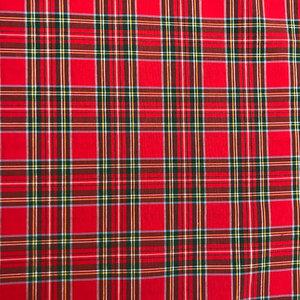 Katoen - Schotse ruit  rood 320