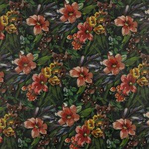 Imiatieleder - Digitale tropische bloemen