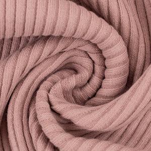 Boordstof - Rib roze