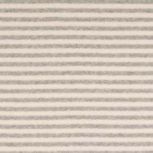 Nicky velours - Lichtgrijze en witte strepen
