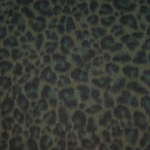 Mantelstof - Luipaard groene tinten