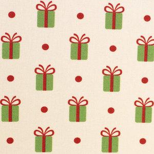Katoen - Kerstgeschenk met dot op wit