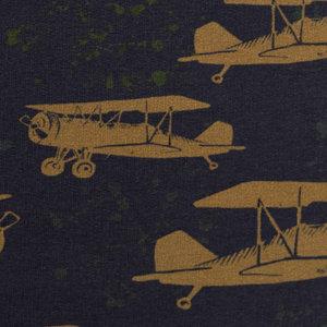 Sweater - Retrovliegtuig op nachtblauw