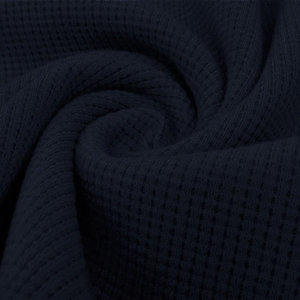 Sweater - Wafelrooster donkerblauw