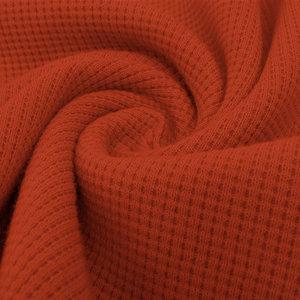 Sweater - Wafelrooster koraaloranje