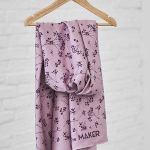 Viscose - Mini bloempje lilac