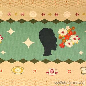 katoen cotton fabrics tissu stof motief print online