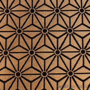 Geometrische sterren goud-zwart - Wild van Stof | Stoffenwebshop ...