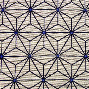 Geometrische sterren grijs-blauw - Wild van Stof | Stoffenwebshop ...