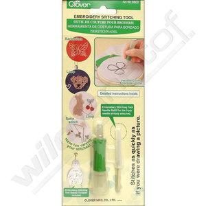 pakket diy online buy webshop kortrijk wild van stof soldeur punch needle borduren clover naald