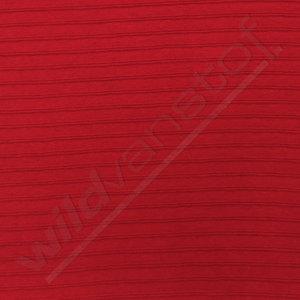 Boordstof - Rood met reliefstreep